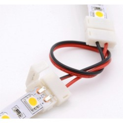 Złączka dwustronna z przewodem do taśmy LED 10mm