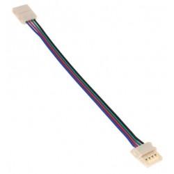 Złączka dwustronna z przewodem do taśmy RGB LED 10mm