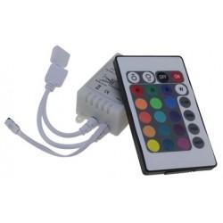 Sterownik mini 144W IR 24 przyciski do taśm LED RGB