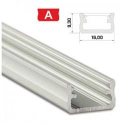 Profil A do taśmy LED 1mb z kloszem