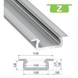Profil Z do taśmy LED 1mb z kloszem