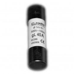 Wkładka cylindryczna 14x51 40A